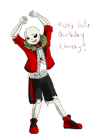 Undertale AU - Edgie dances for Cheeky by Purly