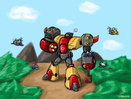TF:A Omega and jet by Guard-of-Minasteris
