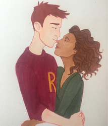 Ron and Hermione, after hogwarts. by spellbound-blue
