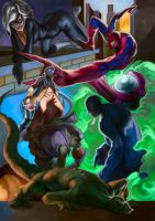 Spiderman and some enemies by JulianDeLio