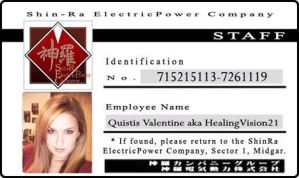 Quisty's Shinra ID card by HealingVision21