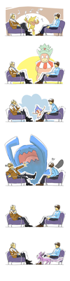 Hannibal+PKMN - pokemon in the study by nitefise