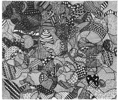 Grid Patterns Drawing by mentos888