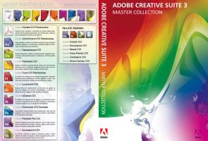 Adobe CS3 Custom DVD Cover by SkullBoarder