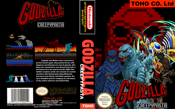Godzilla Creepypasta Nintendo Box Cover by SP-Goji-Fan