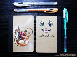 Charmander Notebook - Fanart Pokemon by CrisEsHer