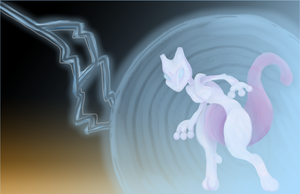 Mewtwo PokePainting by AllKindsOfYES