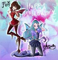 Fifi and Aqua Hallowinx couture by MISTERHATCHLING