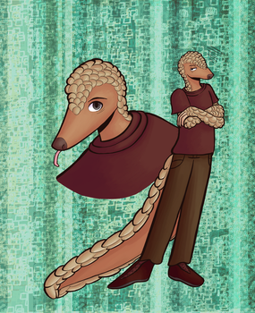 A Pangolin Pal by EldritchBliss