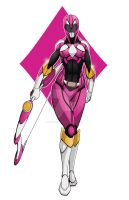 Pink Power Ranger by comicartist88