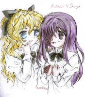 Nice to Meet You, Once More - Hanako and Lilly by karenmizuno