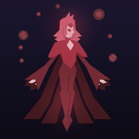 Red Diamond Mural by JaumDrawings