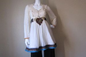 Upcycled Vintage Gunne Sax Dress //Claudia by DewdropzGarden
