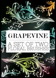 Grapevine Floral Brushes by missfairytaled