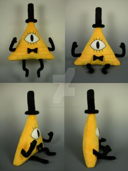 Bill Cipher Fanart Plush by WhittyKitty