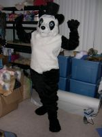 Finished panda suit by Bladespark