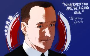 Paint Bust 7: Agent Phil Coulson by MadMarchHare