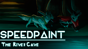 The River Cave - SpeedPaint by Kitty-Winder