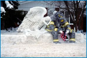 9 11 Ice Sculpture by Lone---Wolf