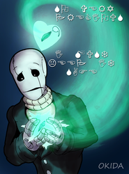 Commission - WD Gaster of Mendertale by Okida