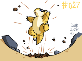 #027 Sandshrew by SaintsSister47