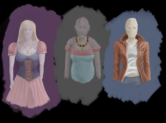Clothes Study 4 : fantasy,african and sci-fi by pixg