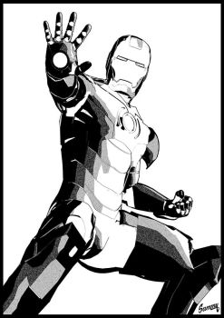 IRONMAN- Lineart by Steamrider86