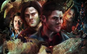 SPN Wallpaper Version (HT#001) by nma-art