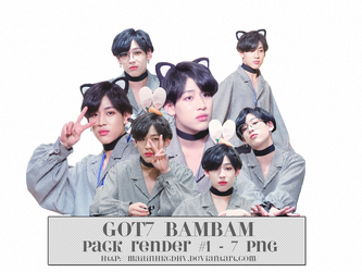 GOT7 BAMBAM - PACK RENDER #1 - 7 PNG by mailinhkcdhv
