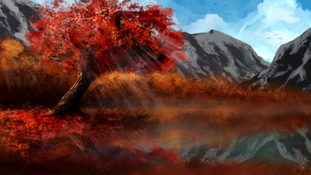 Autumn in the mountains by Martith