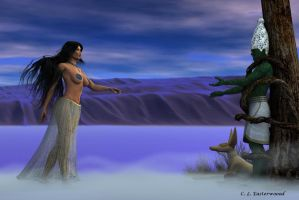 Isis and Osiris by cleasterwood