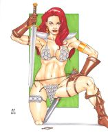 Red Sonja : Temptation by daikkenaurora