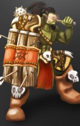 Orc Warrior by WHDiong