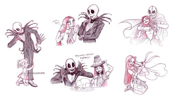jack and sally sketches by briannacherrygarcia