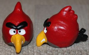 Angry Bird sculpt 1 by angelacapel