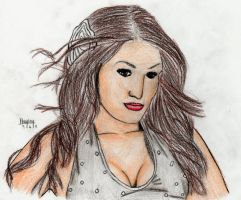 WWE Nikki Bella drawing by circle-of-life