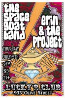 The Space Goat Band Flyer, Lucky's by DrocMacnamara