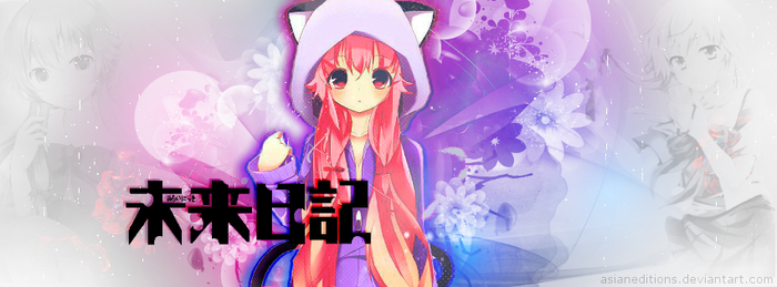 +Gasai Yuno (Mirai Nikki) Portada/Timeline Cover by AsianEditions