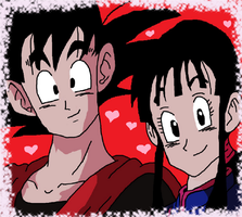 Goku and Chi-Chi by CatCamellia