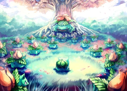 Pokemon : Bulbasaur Secret Garden by Sa-Dui
