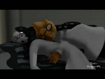 Gaster and Alphys sleeping, VIDEO.  Handplates AU by DarkLadyGrayson