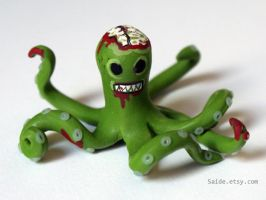 Hungry Zombie Octopus figure by ArtbySaide
