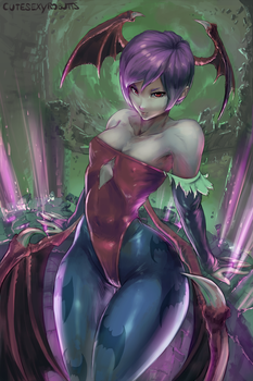 Lilith, Darkstalkers by cutesexyrobutts