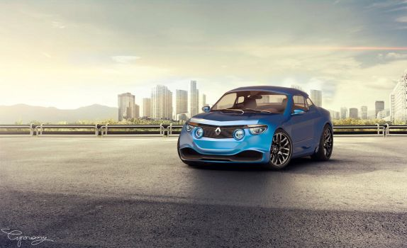 Renault 8 Gordini - concept V2 - 5 by cipriany