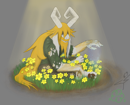 Just watering the flowers by Fuzzonix-x7