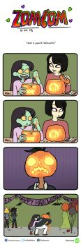 Zomcom: Have a gourd Halloween by EmiMG