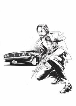 John Wick [Pencil and ink on paper - A3] by LudoDRodriguez