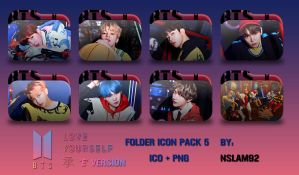 BTS Love Yourself  'Her' Folder Icon Pack 5 by nslam92