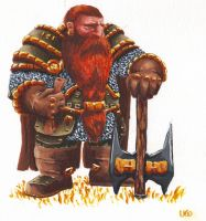 Dwarf watercolor by Izzual