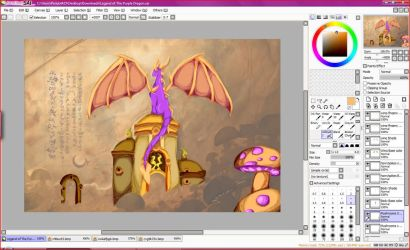 Purple Dragon Scroll Color WIP by FoxyTthePirateFoxGir